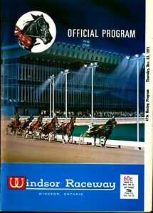1971 Harness Horse Racing Program Windsor Raceway Track Closed & Torn Down