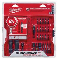 Milwaukee Impact Driver Drill Drive Set 26 Piece Nut Socket Adapter Tool Bits