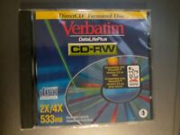 1 Direct CD Formatted Disk VERBATIM Cd-RW Compact Disc Rewriter 2x/4X 533 MB