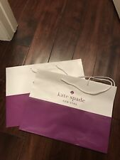 Two Kate spade shopping bags new size 16x12x6 inches With White Tissue