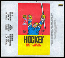 1987-88 OPC O-PEE-CHEE HOCKEY WAX PACK WRAPPER LUC ROBITAILLE ROOKIE NO DRUGS AD