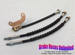BRAKE HOSE SET Lincoln Continental 1975 1976 1977 1978 1979 w/ rear drum brakes
