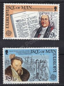 EUROPA MNH STAMP SET 1982 ISLE OF MAN HISTORICAL EVENTS SG 216-217