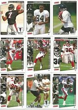 Atlanta Falcons Team Cards 2001 Top 15 Vick Chandler Brooking Jefferson Finneran
