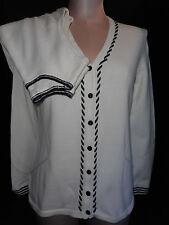 Liz Claiborne Golf Womens 2 Piece Cargian Blouse Top Sweater Shirt S Small White