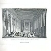 Authentic Antique 1600-1800's Engraving On Paper — Manuscript Artwork Art Old #U