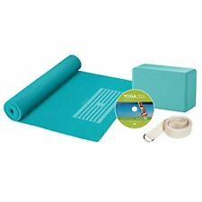 NEW Gaiam Yoga For Beginners Kit Blue FREE SHIPPING