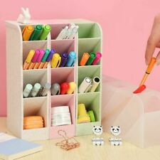 Kawaii Large Capacity Desk Pen Holder Pencil Makeup Storage Box Stand Case 1pc
