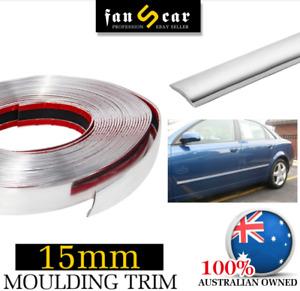 Chrome Molding Trim Strip Car Body Bumper Door Window Elegant Appearance 5Mx15mm
