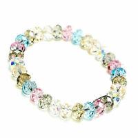 Neu Kristall Perlenarmband Damen Armband-Strass Gummizug Schmuc Modeschmuck F8T5