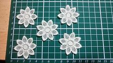 """5pcs-Iron on/Sew on Guipure Lace Flower Motif - Applique,Wedding, Patch-4cm """"1"""""""