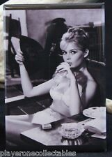 "Brigitte Bardot B & W Photo - 2"" X 3"" Fridge / Locker Magnet."