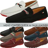 Mens LOAFERS SUEDE SHOES Dress Casual Classic Style Fashion Driving Slip On