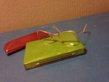 Algha 20ct gold filled 1950s cat eye vintage frameless spectacles women glasses