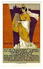 POSTCARD CZECH 1914 SLAVIC CONGRESS PRAGUE SIGNED V. NEUBERT