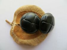 1950s Vintage Sm Faux Leather Black Jacket Dress Replacement Buttons-20mm