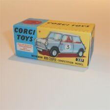 Corgi Toys  227 Morris Mini Cooper empty Repro Box