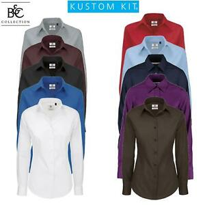 Womens Ladies Blouse Long Sleeve Shirt Office Work Formal Smart Plus Sizes 8-28