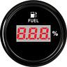 Black 52MM Digital Fuel Level Gauge 240-33 ohms 9-32 V For Car Boat Truck Marine