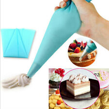 2Pcs Silicone Reusable Icing Piping Cream Pastry Bag Cake Decorating zxc