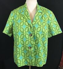 Coldwater Creek UPDATED 70's MOD Green Short sleeve Jacket Xl