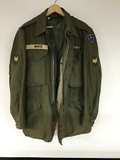 Vintage WW2 U.S. MILITARY Army Field Jacket Has Lining Size Small  Named
