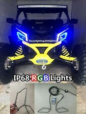 jhb-lighting【A-01】UTV Can-Am Maverick X3 RGB Color Change Bluetooth Halos Light