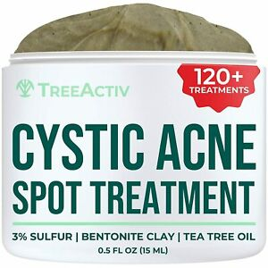 TreeActiv Cystic Acne Spot Treatment, Best Extra Strength Fast Acting Formula
