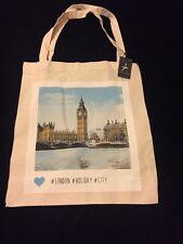 PRIMARK London Tote Bag Big Ben Westminster Thames England UK Atmosphere