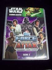 star wars force attax Serie 2 Sammelmappe komplett mit LE 2, 4 und 5