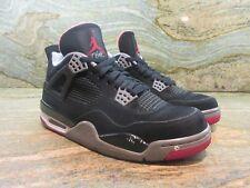 2012 Nike Air Jordan IV 4 Retro SZ 9 Black Cement Fire Red BRED OG 308497-089