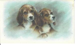 2 Puppies Note Card Junk Junque Journal Ephemera Scrapbooking Crafts