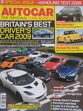 Autocar magazine 12 August 2009 featuring Audi road test