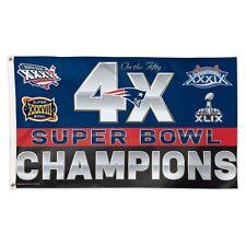 New England Patriots Wincraft NFL 3x5 Flag 4X Super Bowl Champions FREE SHIP!