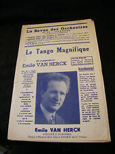Partition Le tango magnifique Emile Van Herck