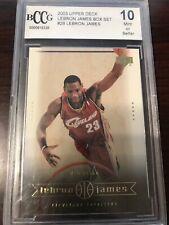 2003 Upper Deck Lebron James BCCG 10 Box Set #28 Cavaliers