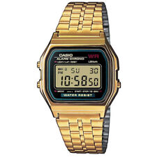 Casio Retro LCD Wrist Watch Gold Tone Stainless Steel Band Classic Retro