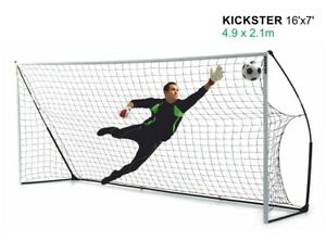 Kickster Academy 16ft x 7ft Ultra Portable Football Goal - Perfect for Training