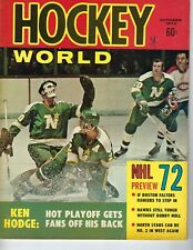 1972 Hockey World magazine Minnesota North Stars Montreal Canadiens FrWr