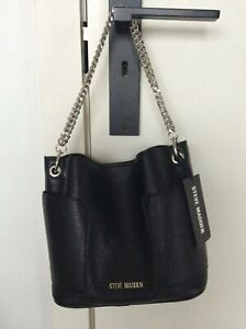 Steve Madden Bbettie Hobo Bag with Silver Chain Strap & Shoulder Strap BNWT