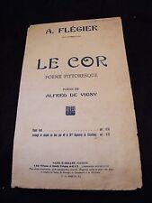Partition Le cor Alfred de Vigny A Flégier Music Sheet