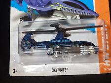 HW HOT WHEELS 2013 HW STUNT #76/250 SKY KNIFE HELICOPTER HOTWHEELS BLUE VHTF