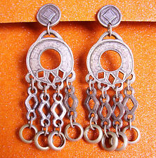 802 / BOUCLES D'OREILLE CLIPS EN METAL ARGENTE