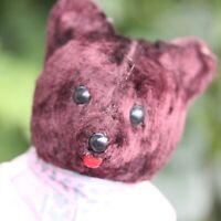 ANTIQUE VINTAGE TEDDY BEAR RUSSIAN BEAR w BALALAIKA MUSIK TEDDY