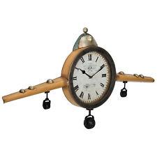 [en.casa]® Horloge murale avion front métal déco design horloge analogue