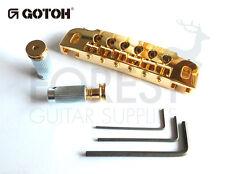 GOTOH guitar wraparound bridge 510UB, hard zinc saddle, gold
