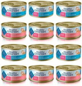 Blue Buffalo Healthy Gourmet Variety Pack Adult Pate Wet Cat Food 12-5.5 oz can