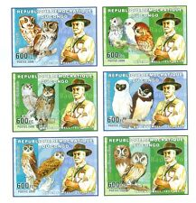SCOUTISME & HIBOUX - SCOUTING & OWLS  CONGO 2006 Baden Powell set imperforated