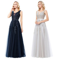 Dress Ball Gown Evening Bridesmaid Formal Cocktail Wedding Party Prom Long MAXI