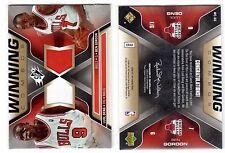 1X LUOL DENG BEN GORDON 2006 07 SPX Winning Combos #WC-DG JERSEY RELIC Bulls